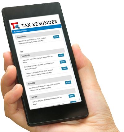 TaxReminder.com is developed for mobile devices.